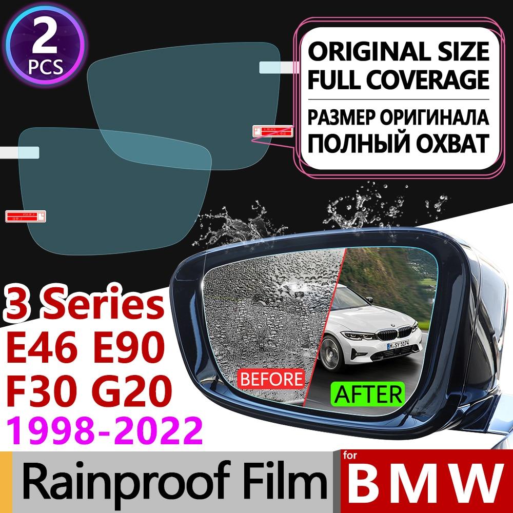 for BMW 3 Series BMW E46 E90 F30 G20 Full Cover Anti Fog Film Rearview Mirror Rainproof Car Accessories 318i 320i 325i 328i 330i
