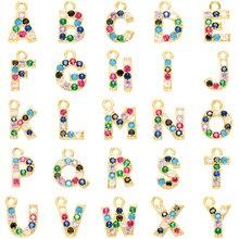 ZHUKOU 10x13mm Simple et mode bonbons cristal lettre pendentif pour collier boucles doreilles accessoires faisant modèle VD436