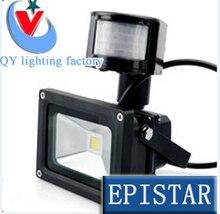 DHL FedEX 10 W 20 W 30 W 50 W 85-265 V recherche étanche PIR capteur de mouvement Induction sens détective capteur lampe LED projecteur