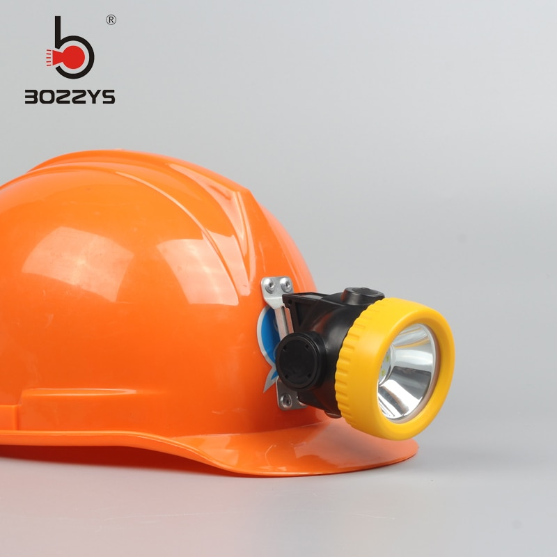 BOZZYS LED 1W 2200mAH Miner Safety Cap Lamp headlight Light miners lamp with Charger  BK3000