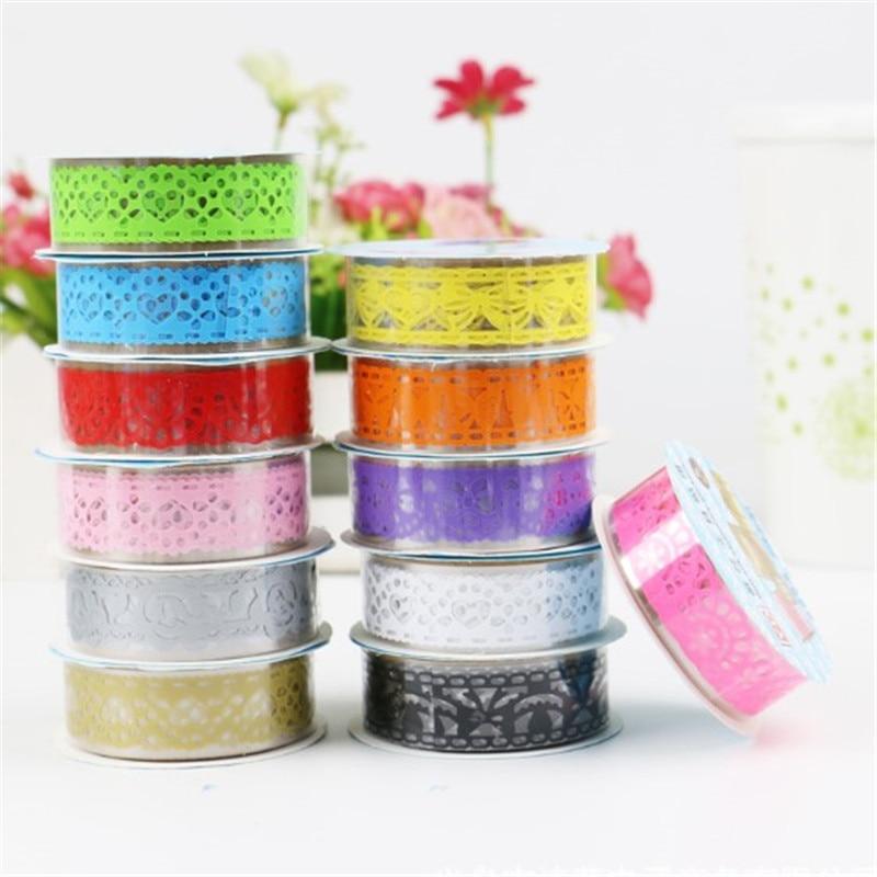 1 pcs Tapes DIY Openwork pattern Painting paper Masking tape Decorative Adhesive Tapes Stationery Kawaii Scrapbooking Supplies