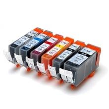 6PCS Volle tinte Patrone PGI-520 CLI-521 für Canon Pixma iP3600 ip4600 ip4700 MP560 MP620 MP640 MP640R MP980 mit chip