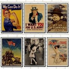 Weltkrieg vintage Retro Kraft Poster. Weltkrieg 1, Welt Krieg 2 propaganda poster retro poster stil dekorative/901