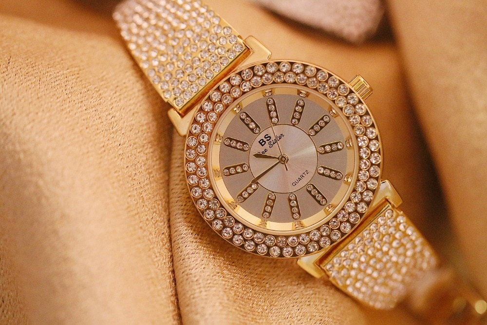 40mm Diamond Big Dial Women Watches Lady's Elegant Bangle Charm Watch Girl Fashion Casual Watches Montre Femme Fashion Watches enlarge