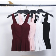 SISHION 2020 Bustier Crop Top Summer Women Tank Top Black White Pink Short Vest Sexy Camis Women Tops Cropped Feminino VT0007