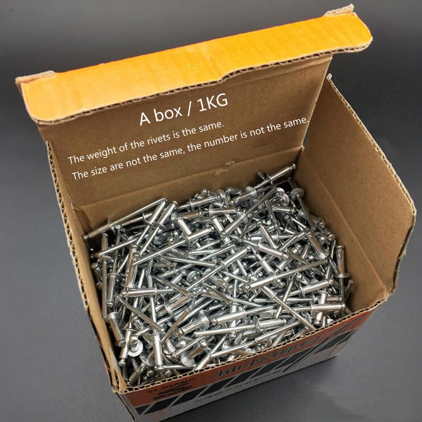 ¡Producto en oferta! 1 kg/caja M3.2/M4/M5, remache ciego de aluminio, remaches de cabeza redonda, decoración de uñas, remaches Pop