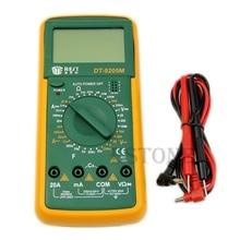 DT9205M LCD Dijital Multimetre Voltmetre Ohmmetre Ampermetre Kapasite Test Cihazı Sıcak