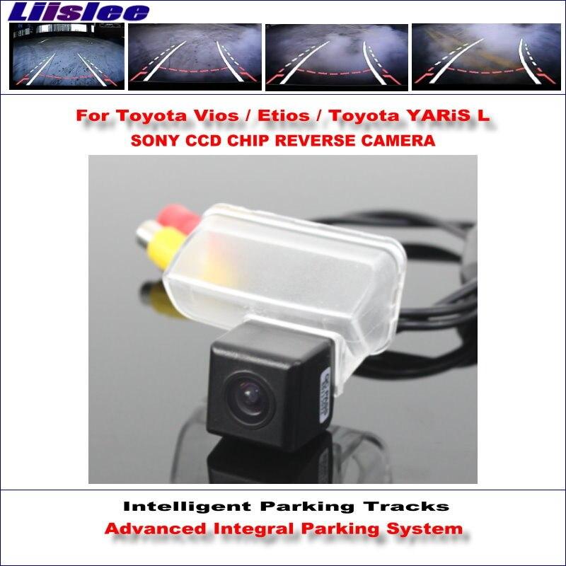 Liislee Intelligentized Reversing Rear Camera For Toyota Vios / Etios / YARiS L 2014 2015 View Back Up / Dynamic Guidance Tracks