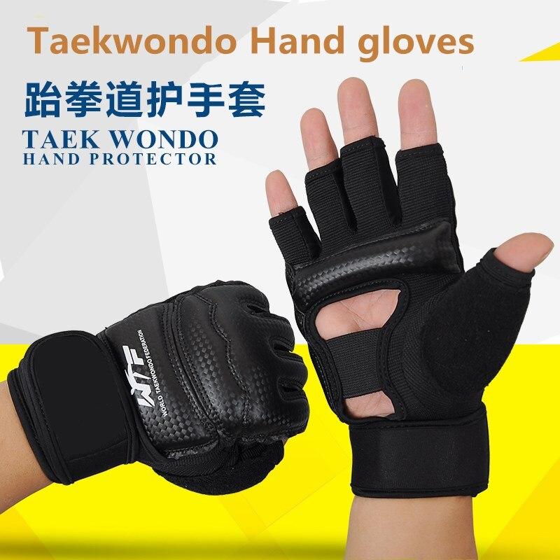 Guantes de boxeo de medio dedo para niños y adultos, Sanda, bolsa de arena para Karate, guantes protectores de Taekwondo, guantes de mma semidedos
