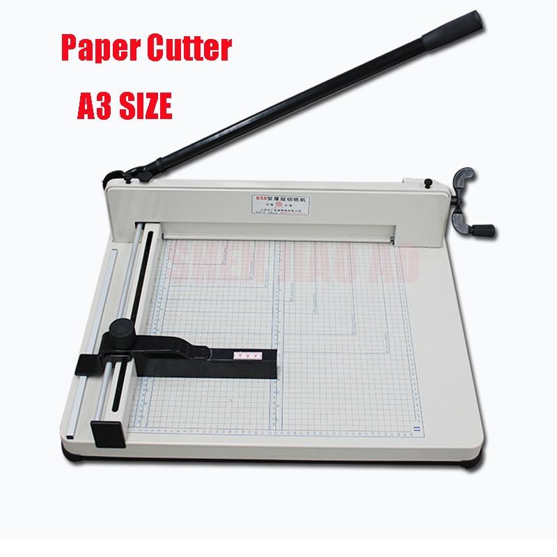 مقصلة للورق المكتبي ، ماكينة قص ورق 858-A3 ، أقصى عرض 44 مللي متر ، سمك 4 سنتيمتر