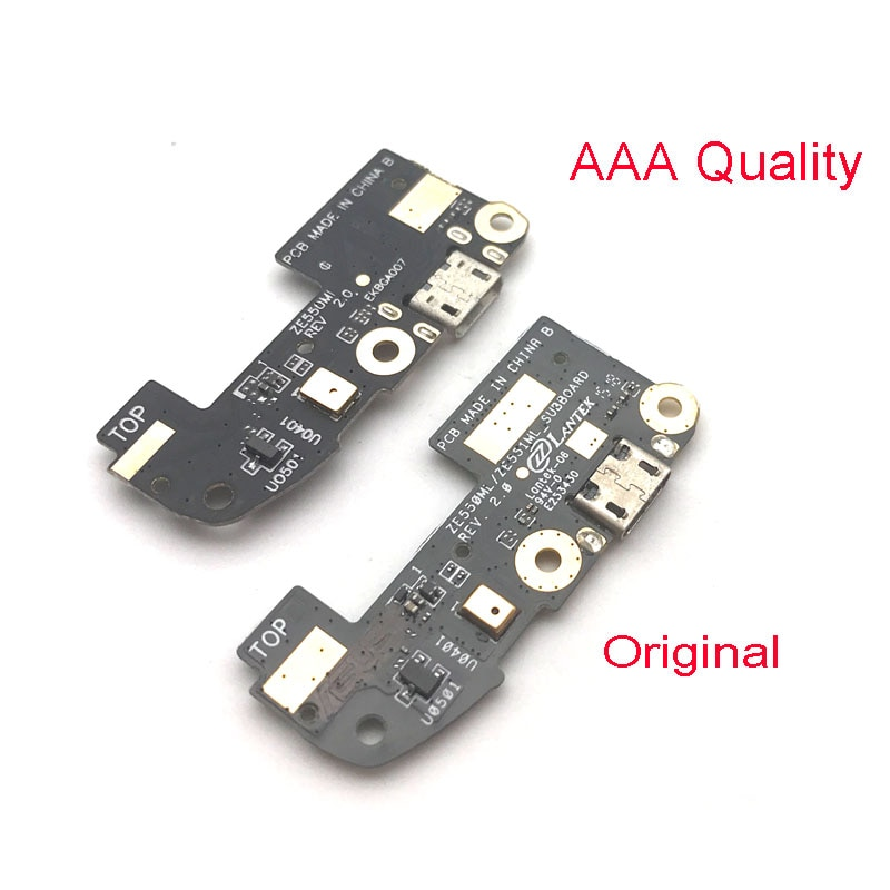 20 unids/lote, nuevo Cable flexible de puerto de carga Micro USB para Asus ZenFone 2 ZE550ML ZE551ML