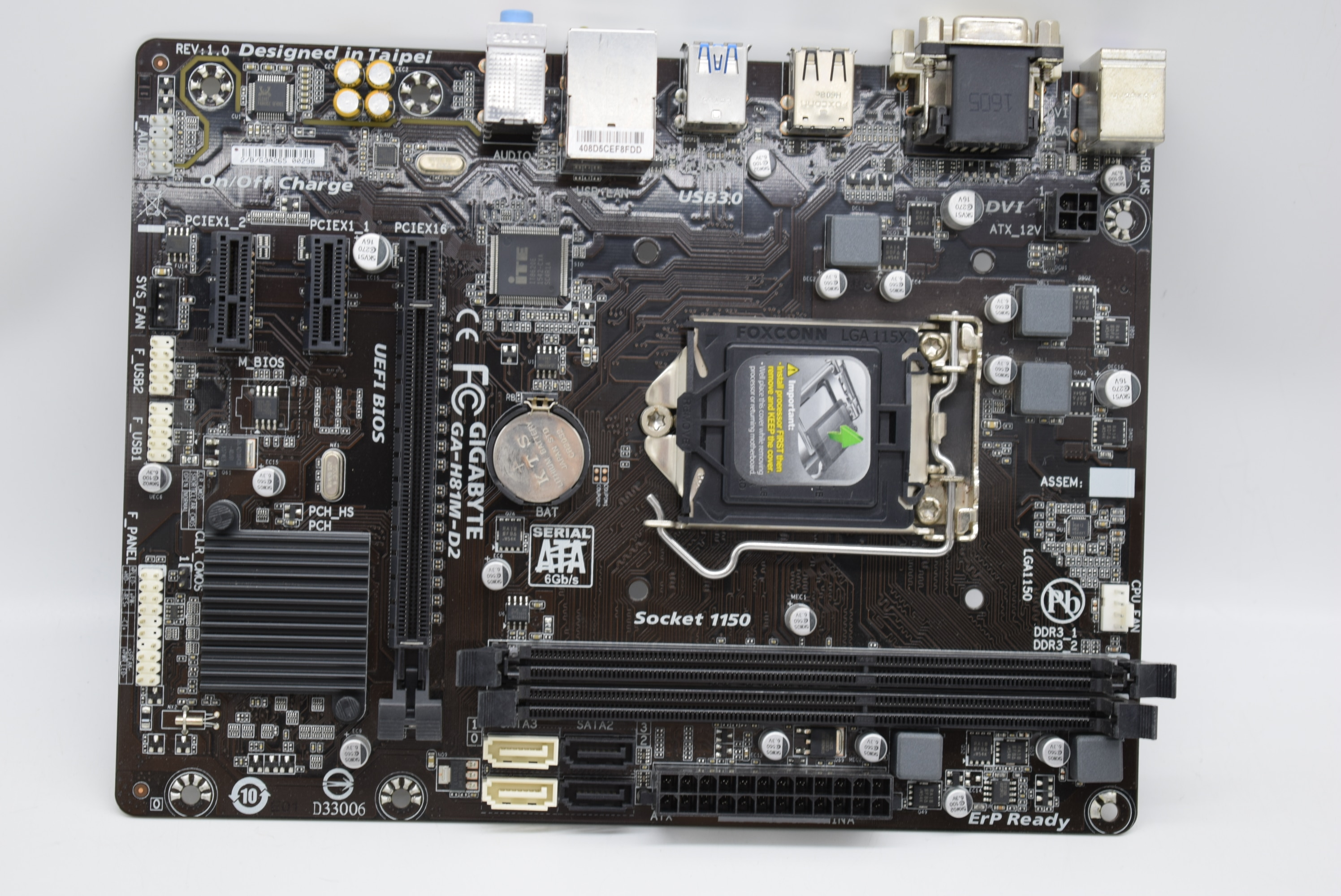 Pour GIGABYTE Giga GA-H81M-D2 1150 broches DDR3 H81 carte mère I3 4150 4770K Original utilisé carte mère