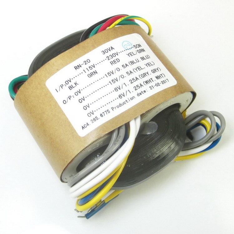 115 V/230 V 30W Tipo R transformadores Dual 15V Dual 6V de salida para ES9018 ES9028 ES9028PRO ES9038PRO DAC