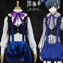 Anime kuroshisuji noir majordome livre de cirque Cosplay Ciel fantôme Cosplay déguisement ensemble complet