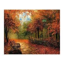 DIY Diamond Painting Landscape Autumn Full Square Rhinestones Mosaic Diamond Embroidery Scenic Wall Decor Craft Gift  YD