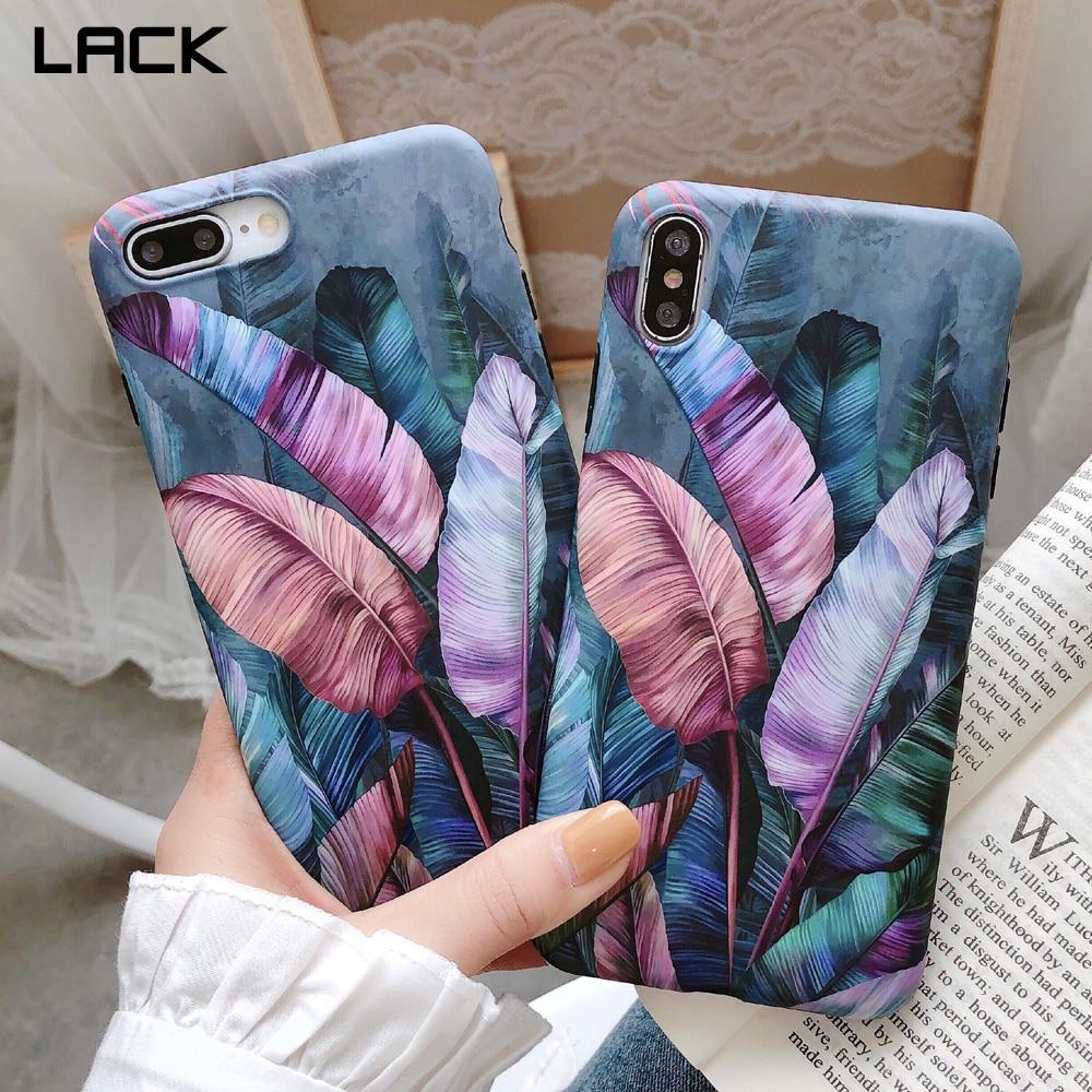 Falta retro colorido folha de banana macio silicone caso de telefone para iphone 11 11pro max 8 plus 6 s 7 x xs max xr plantas folhas capa