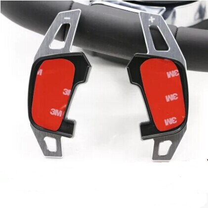 Carro styling 2 pçs/set Volante DSG Paddle Extensão Shifter para Volkswagen Golf MK7 GTI & R & 2015 GOLF 7 & POLO Lamando
