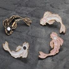 يين يانغ رمز الأسماك دبابيس الصينية نظرية الطاوية دبابيس شارات ظهره التلبيب المينا دبابيس للأصدقاء هدايا مجوهرات بالجملة