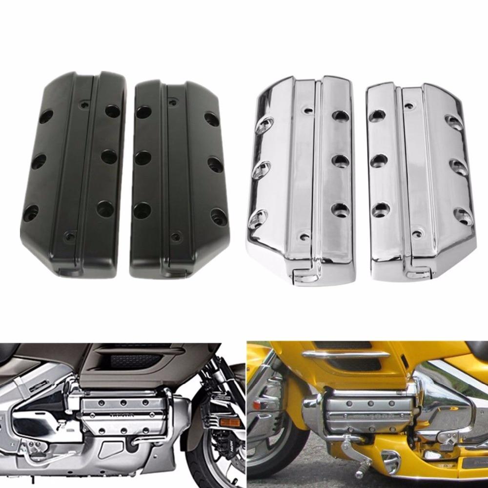 دراجة نارية غطاء الصمام اسطوانة لهوندا Goldwing 1800 GL1800 2001-2017 كروم/أسود
