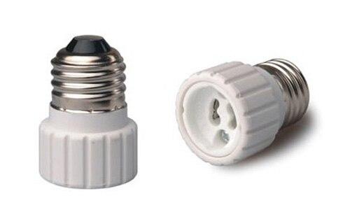 50pcs Fire proof PBT adapter converter E26 to GU10 lamp base CE & RoHS holder adapter GU10 to E26 lamp holder