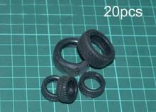 20 pièces pneus de Simulation diamètre 18mm/28mm roue en caoutchouc pneus Anti-collision rapport 116 petites pièces de rechange pour remorqueur RC