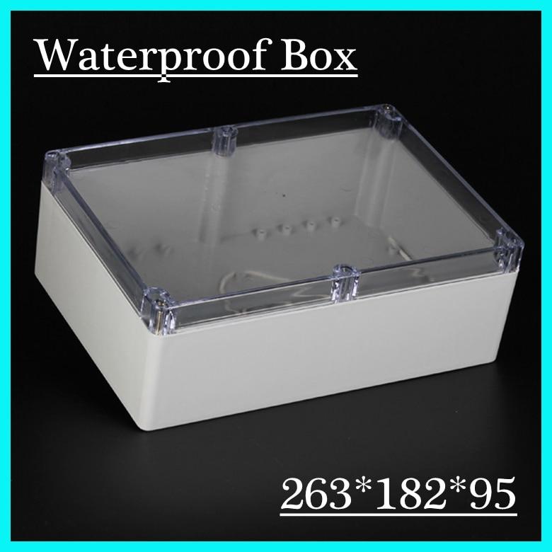 263*182*95 мм водонепроницаемый переключатель коробка/водонепроницаемые корпуса/электрические пластиковые коробки с CE одобрением