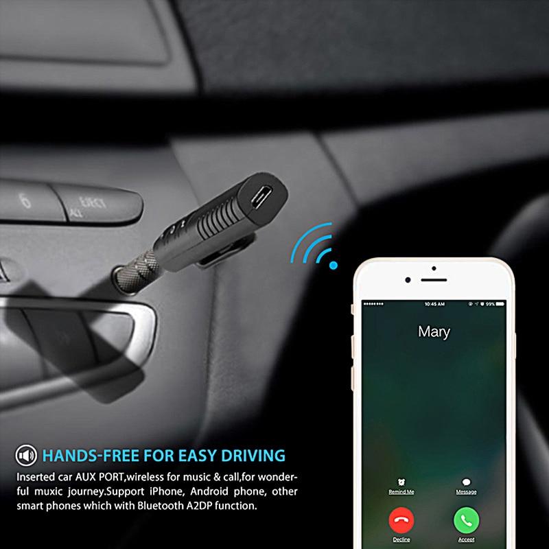 Para Toyota Corolla RAV4 Yaris Honda Civic acuerdo ajuste CRV Nissan Qashqai muchacho Jack de 3,5mm Bluetooth 4,1 altavoz receptor