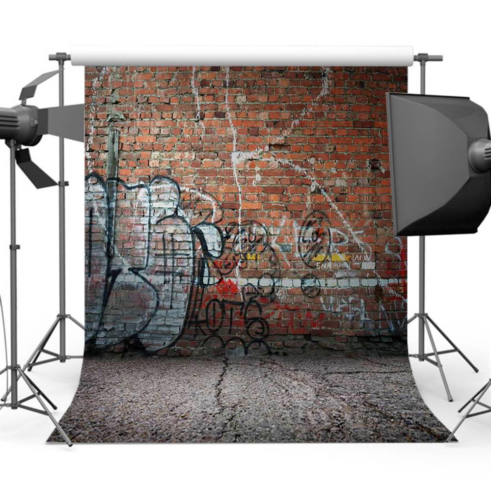Mehofoto Graffiti ladrillo fotografía de pared fondo de dibujo telón de fondo para niño foto estudio Y-416