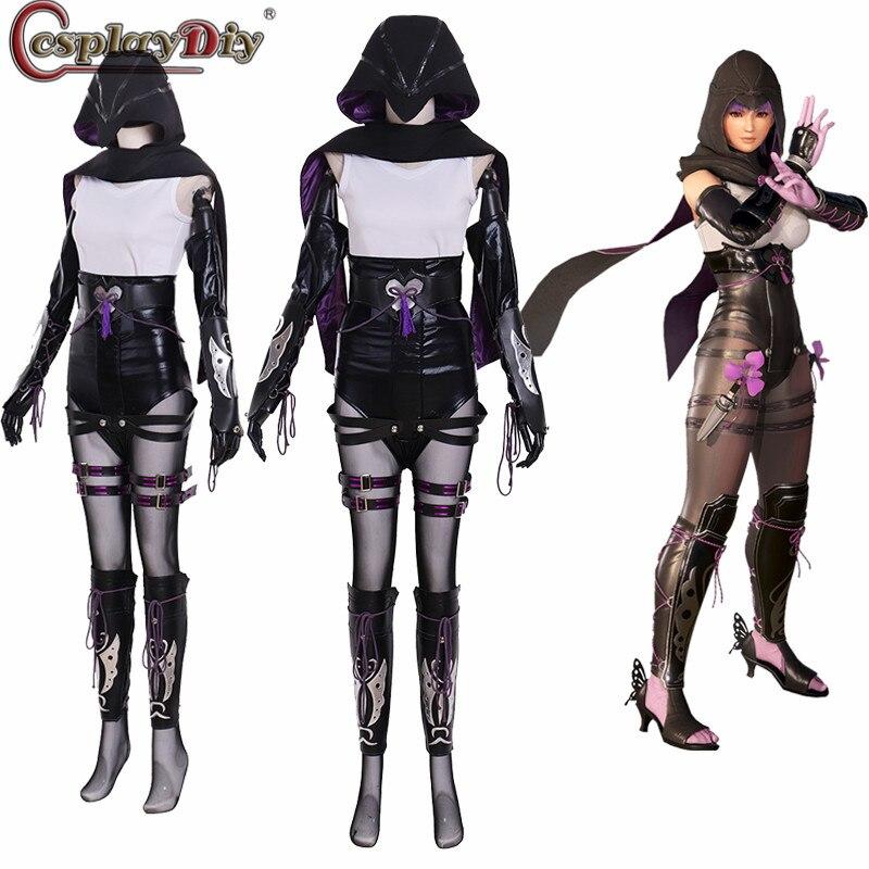 Cosplaydiy 6 Dead or Alive Ayane Cosplay DOA6 Tecmo Koei Mulheres Trajes de Halloween Custom Made