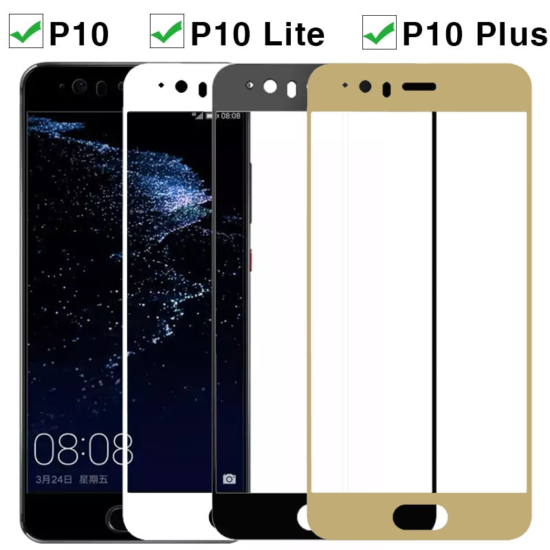 Vidrio Protector para Huawei P10 Lite Plus P 10 vidrio templado en P10lite P10Plus Huaweip10 p 10lite película protectora de pantalla de luz