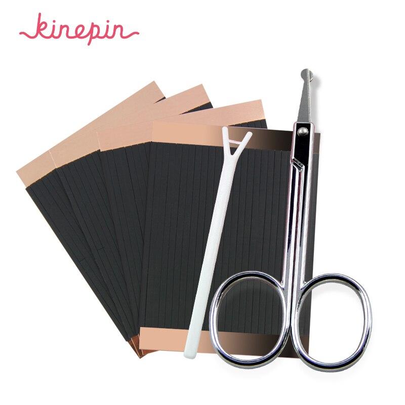 Клейкая лента для глаз KINEPIN 208 шт., волшебная клейкая лента для макияжа, невидимая двусторонняя клейкая лента для век, растягивающиеся полоски для глаз, инструменты