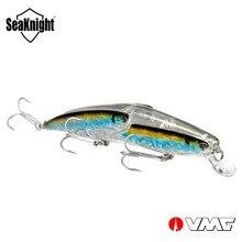 SeaKnight Minnow SK046 Drijvende Visaas 1 st 25.5g 130mm 5in 0-0.5 m Harde Vissen Lokken 3 VMC Haken Stalen Ballen Binnen Wobbler