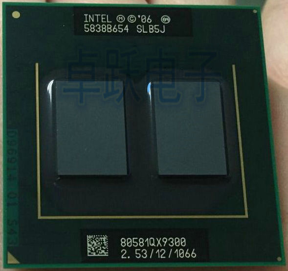 Оригинальный процессор Intel QX9300 SLB5J, 2,53 ГГц, 1066 МГц, FSB, разъем P, для PM45, T9600, q9100