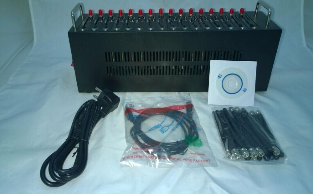 TC35I 3,01 edición 16 puertos modem pool para sms, recarga (STK) y módem USSD, TC35i recarga modem pool
