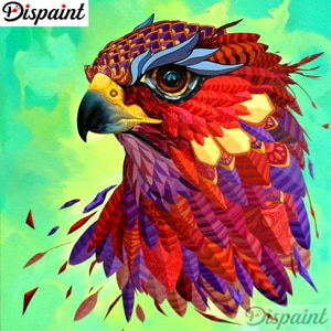 """Dispaint Full Square/Round Drill 5D DIY Diamond Painting """"Animal bird scenery"""" 3D Embroidery Cross Stitch 5D Home Decor A10267"""