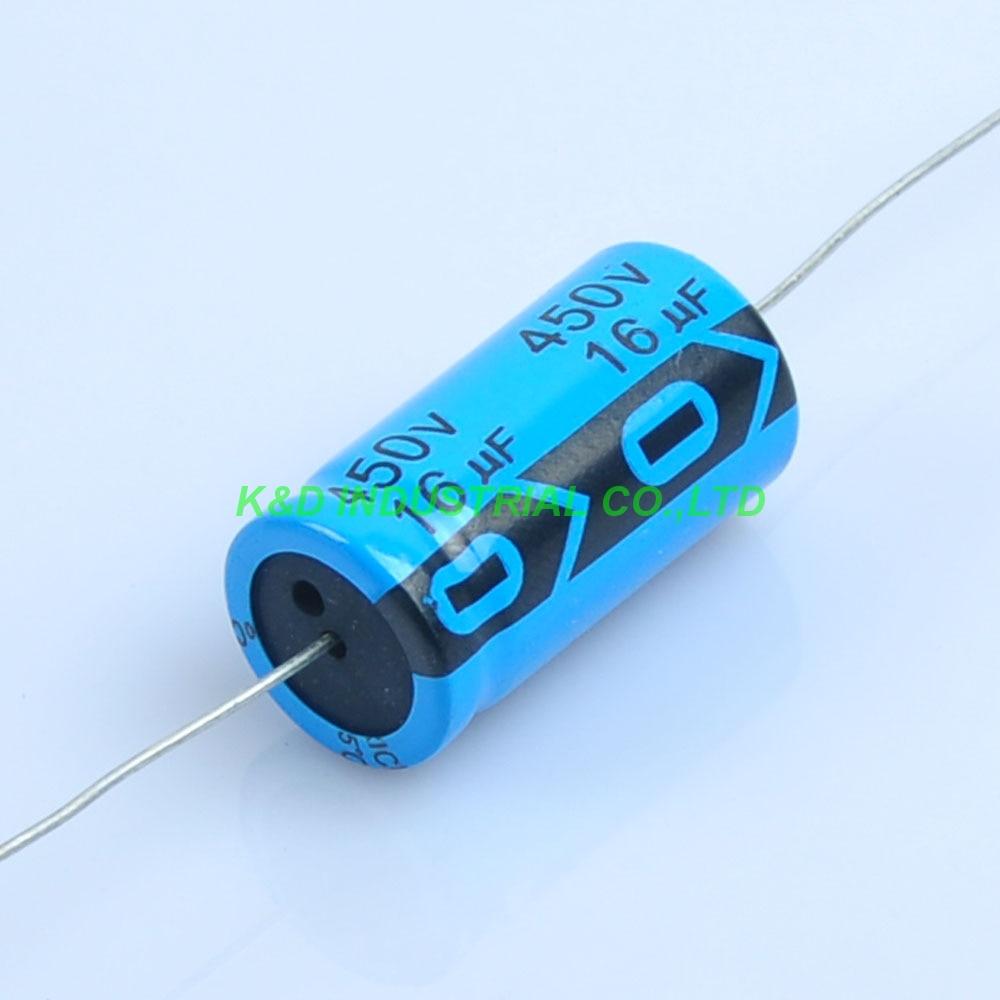 6pcs 16uf 450V Axial Electrolytic Capacitor For Guitar Valve Radio Tube Amp DIY