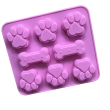 Moule en forme de patte de chien Silicone   Cookie, bonbons, chocolat, savon, Cube de glace, ustensiles de cuisson, décoration de gâteau danniversaire, outils de cuisson