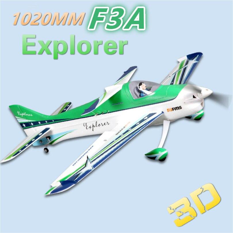 """FMS 1020mm (40,1 """") F3A Explorer 4CH 3S Durable EPO Aerobatic 3D PNP RC Avión de radiocontrol modelo de Hobby avión aviones deportivos"""