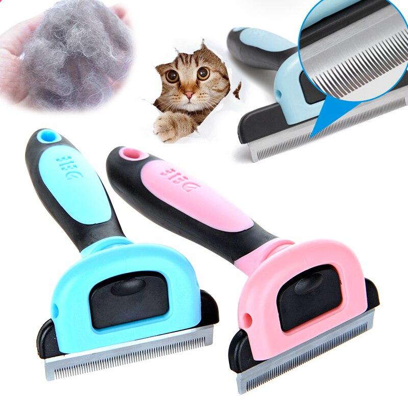 Recortadora desmontable para mascotas, cepillo para perros, herramienta de aseo para mascotas, peine de eliminación de pelo para perros, cepillo para gatos, recorte de pelo para perros y gatos