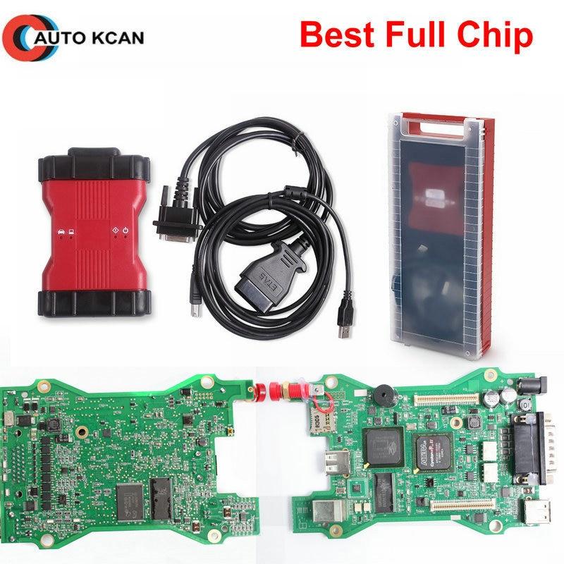 A ++++ 품질 전체 칩 vcm 2 vcm ii ids obd2 scann 도구 vcm2 v101 자동차 진단 도구 카 톤 또는 플라스틱 상자