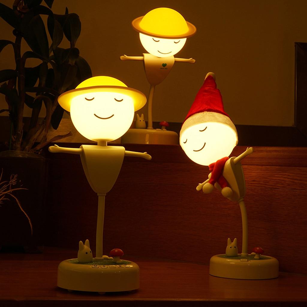 Cute Night Table Desk lamp Creative Light Lamps Lighting for Babyroom Kids Stair Feeding Nurseries Friend Kids Birthday Gift