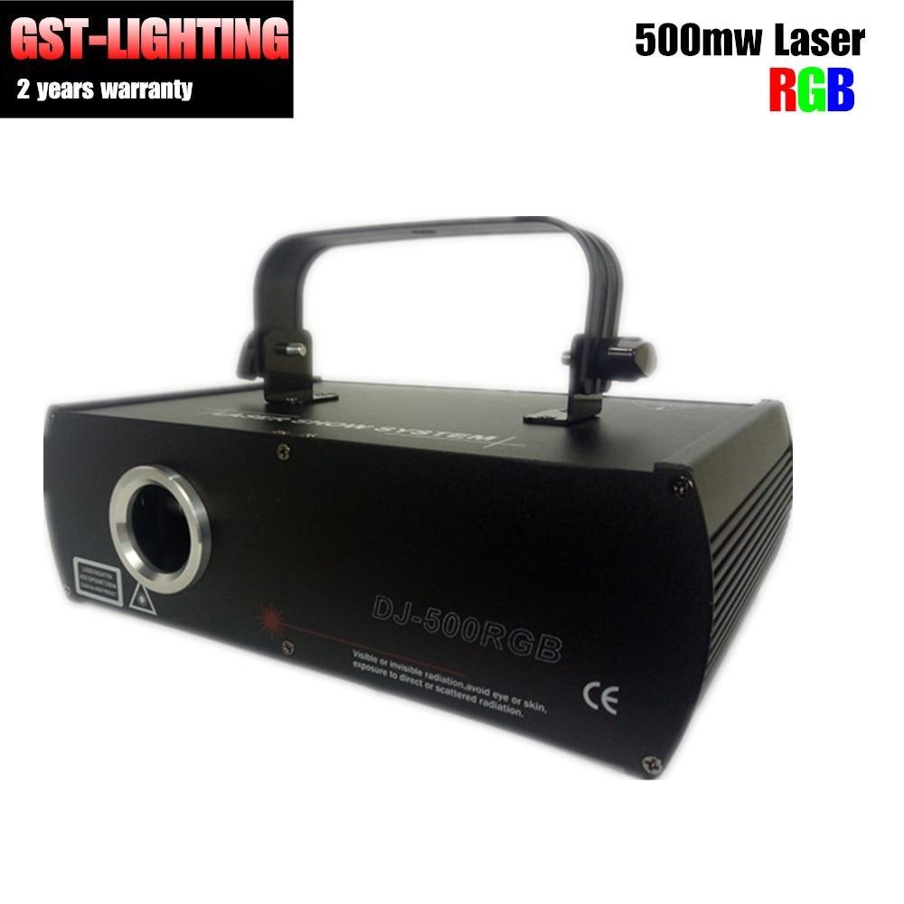 RGB 500 мВт Лазерная сценическая анимация освещение диодный диод перекачиваемый твердотельный лазер