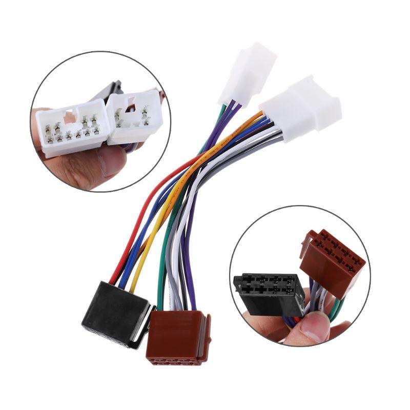 Rádio Do Carro ISO Cablagem Plug Adapter Cable Para TOYOTA Land Cruiser Lexus MR2 RAV4 Solara Yaris Dec-31