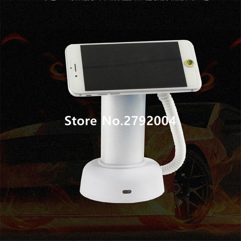 10 unids/lote de soporte de pantalla de alarma de seguridad de teléfono móvil con Control remoto para antirrobo con función de carga