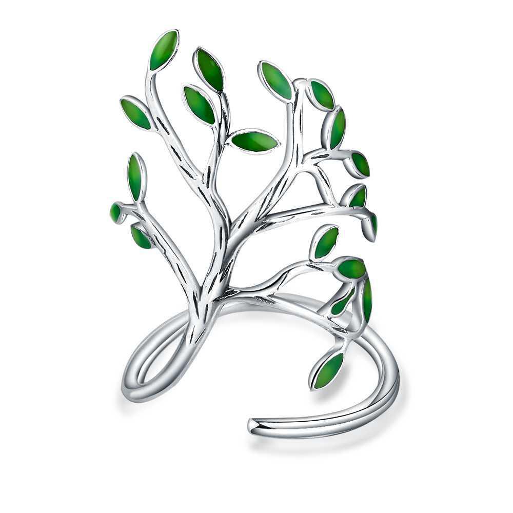 jexxi-s90-Цвет-Глазурь-листья-Открытые-Кольца-для-женщин-ручная-работа-гипоаллергенно-Ювелирное-кольцо