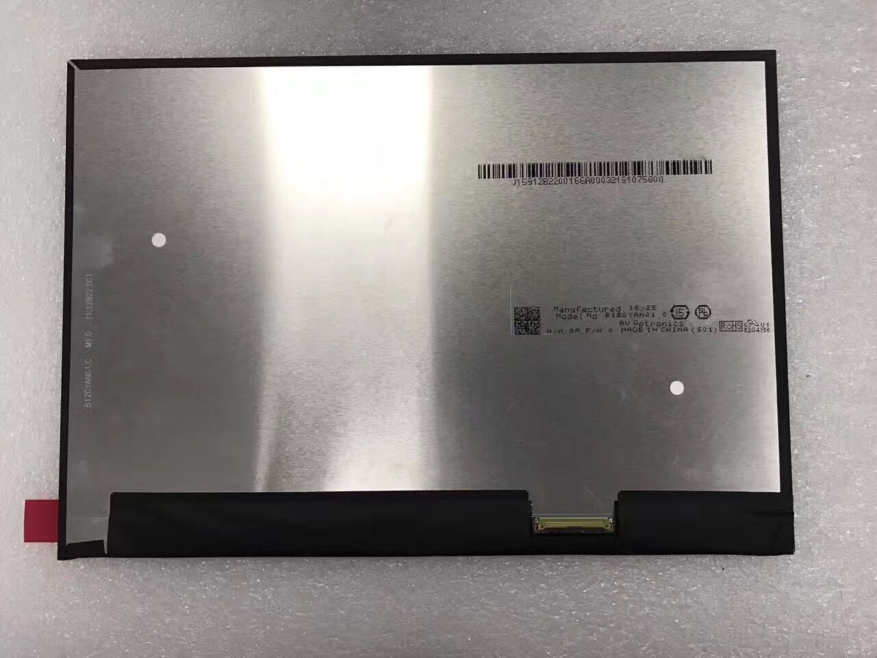 Pantalla LCD LED de 12,3 pulgadas B120YAN01.0 para Lenovo Miix 720 2880x1920 sin tocar