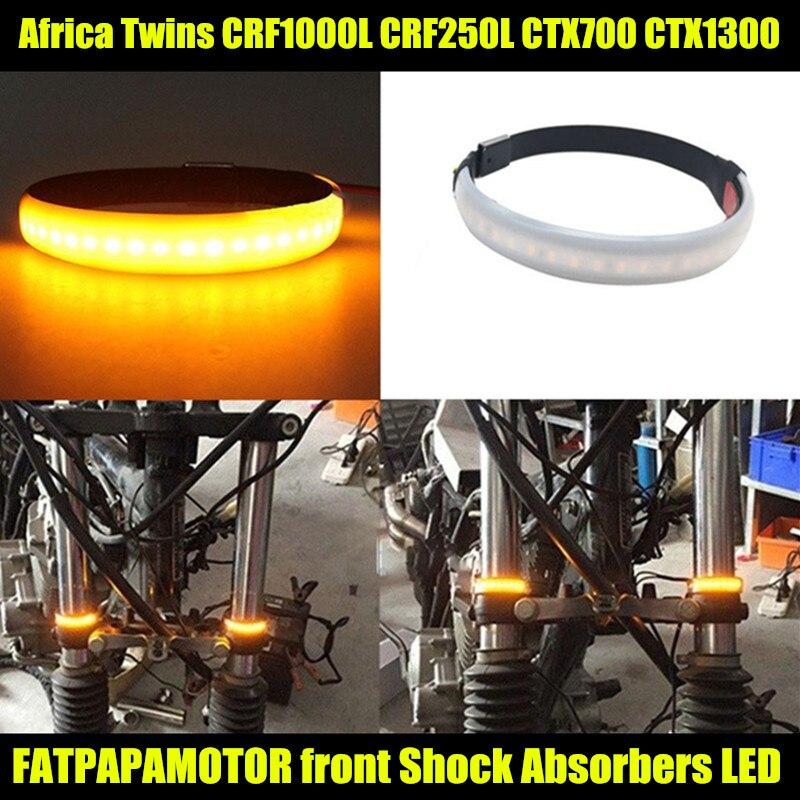 Motorfiets Accessoires Schokdemper Modificatie LED knipperlichten VOOR HONDA AFRIKA TWINS CRF1000L CRF250L CTX700 CTX1300