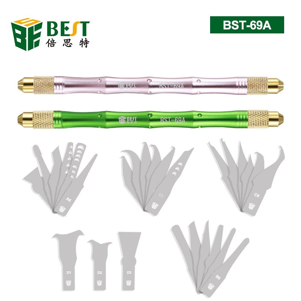 27 Uds cuchillas para manualidades cuchillo de corte DIY cuchillo de tallado demolición CPU reparación modelo Herramientas de reparación