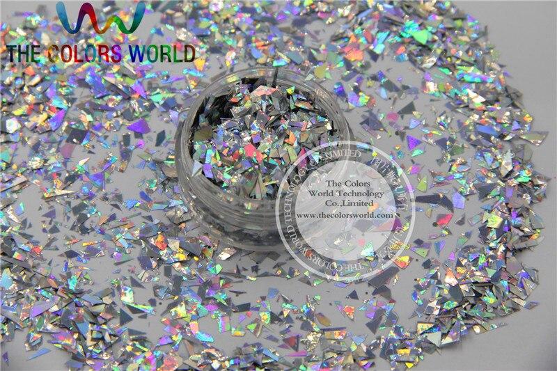 Tca100 holográfica folha mylar corte aleatório tamanho flocos para decoração de unhas e outra arte diy decoração