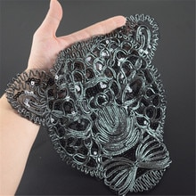 T-shirt paillettes noires femmes   patch léopard 285mm, offre avec it biker patchs pour vêtements autocollant 3d T shirt hommes livraison gratuite